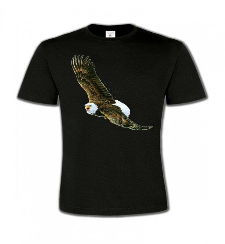 T-Shirts Col Rond EnfantsAiglesAigle en vol aigle pygargue à tête blanche