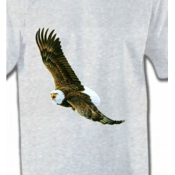 T-Shirts T-Shirts Col Rond Enfants Aigle en vol aigle pygargue à tête blanche