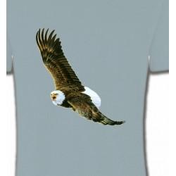 T-Shirts T-Shirts Col Rond Unisexe Aigle en vol aigle pygargue à tête blanche