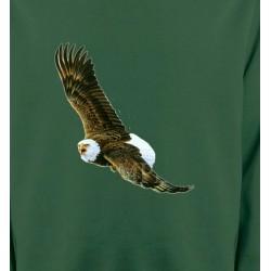 Sweatshirts Aigles Aigle en vol aigle pygargue à tête blanche