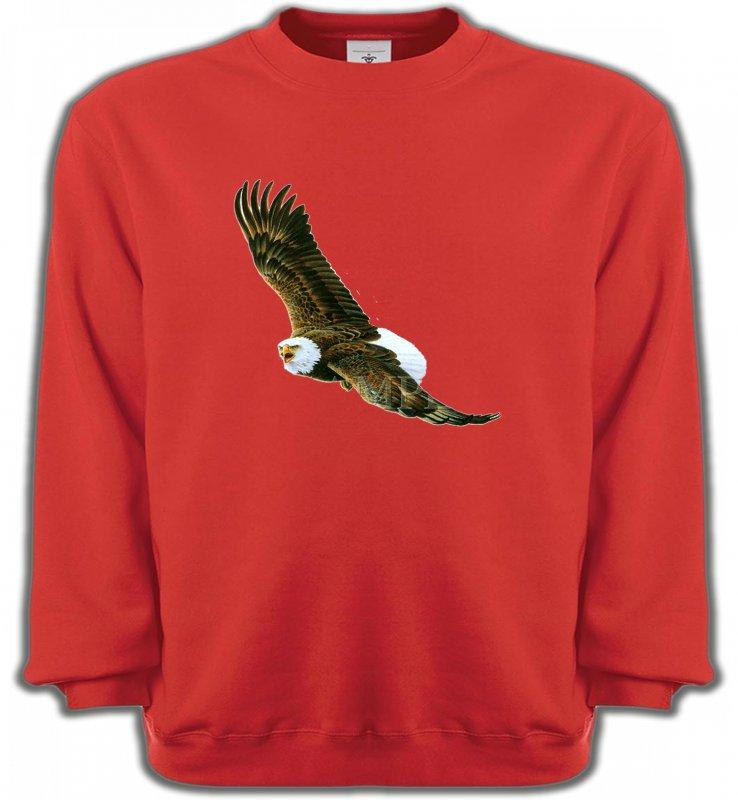 Sweatshirts UnisexeAiglesAigle en vol aigle pygargue à tête blanche