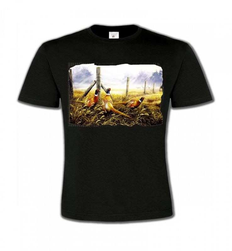 T-Shirts Col Rond EnfantsOiseaux divers3 Faisans (X)
