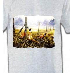T-Shirts T-Shirts Col Rond Enfants 3 Faisans (X)
