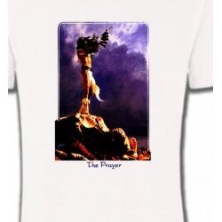 T-Shirts T-Shirts Col Rond Unisexe Prière d'Indien (K)