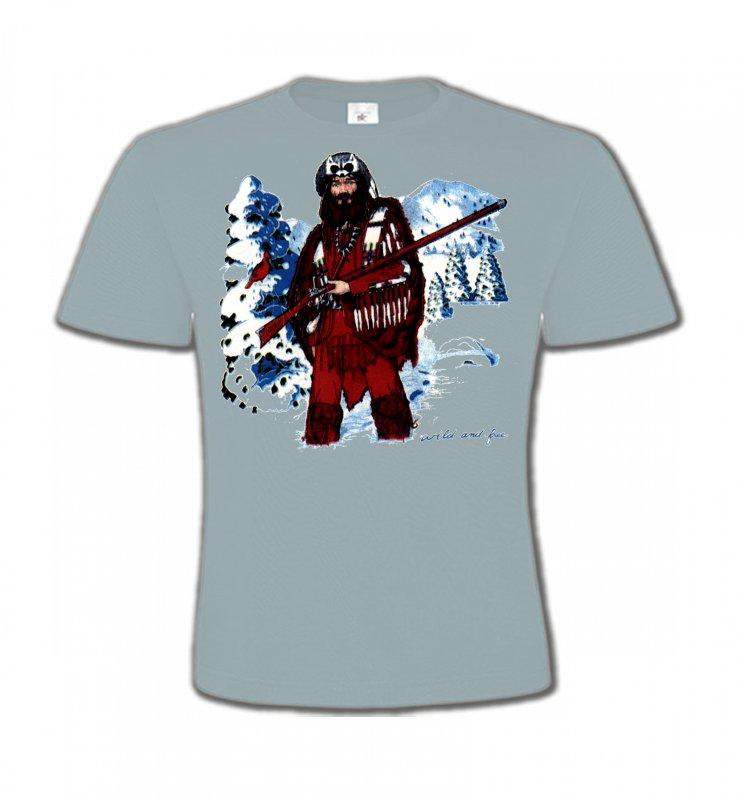 T-Shirts Col Rond EnfantsIndien et AmérindiensIndien à la chasse (W)