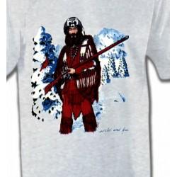 T-Shirts T-Shirts Col Rond Enfants Indien à la chasse (W)