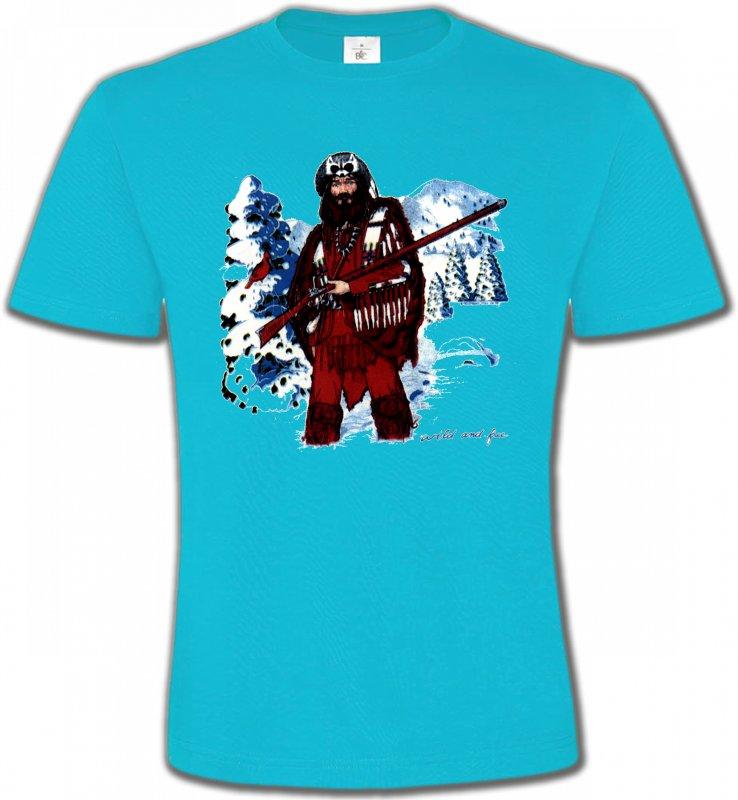 T-Shirts Col Rond UnisexeIndien et AmérindiensIndien à la chasse (W)