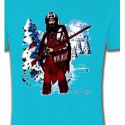 T-Shirts T-Shirts Col Rond Unisexe Indien à la chasse (W)