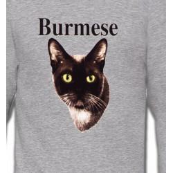 Sweatshirts Sweatshirts Unisexe Chat Burmese
