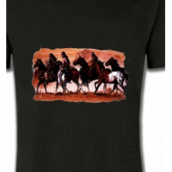 T-Shirts T-Shirts Col Rond Unisexe Tribu indienne (J)