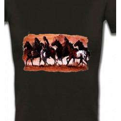 T-Shirts T-Shirts Col V Femmes Tribu indienne (J)