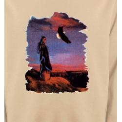 Sweatshirts Sweatshirts Unisexe Indienne et aigle (S)