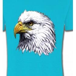 T-Shirts Aigles Tête d'aigle pygargue à tête blanche