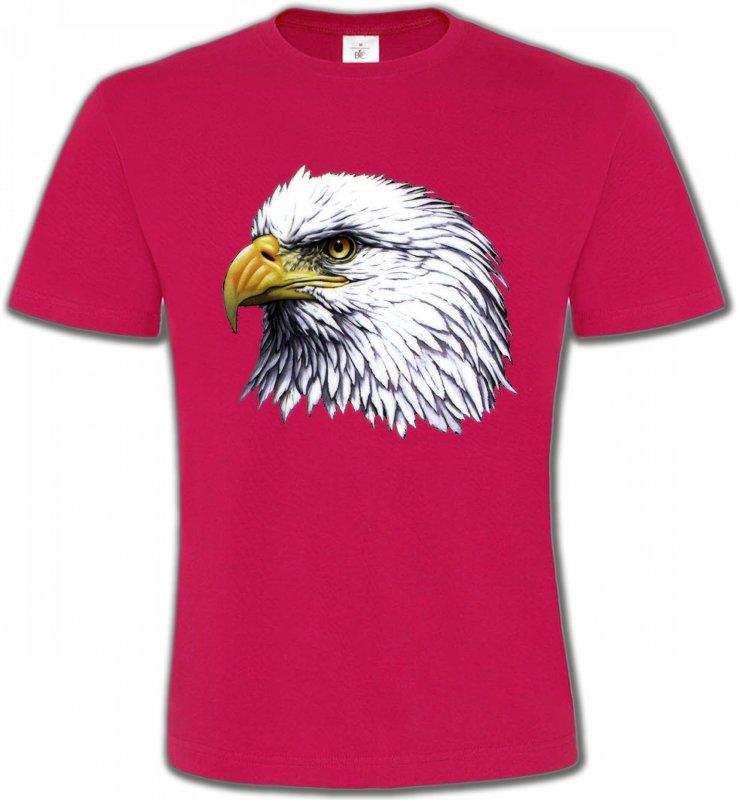 T-Shirts Col Rond UnisexeAiglesTête d'aigle pygargue à tête blanche