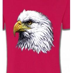 T-Shirts Oiseaux Tête d'aigle pygargue à tête blanche