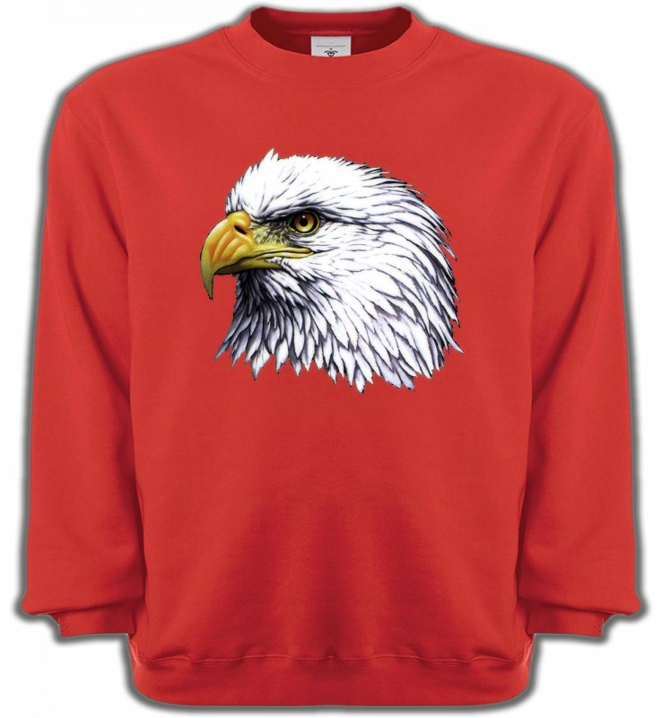 Sweatshirts UnisexeAiglesTête d'aigle pygargue à tête blanche