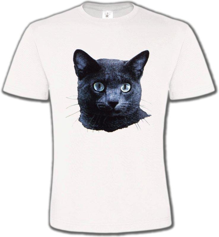 T-Shirts Col Rond UnisexeRaces de chatsChat russe (B2)