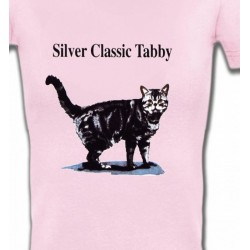 T-Shirts Races de chats Chat tigré gris (Y)