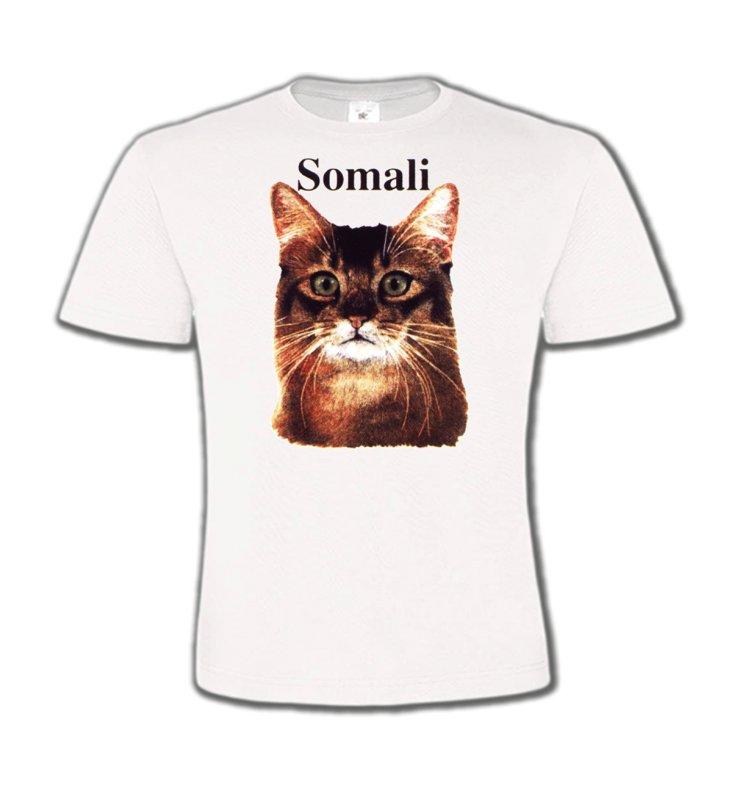 T-Shirts Col Rond EnfantsRaces de chatsChat Somali (X)