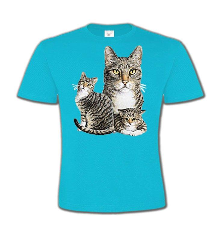 T-Shirts Col Rond EnfantsRaces de chatsChats tigré gris (M2)