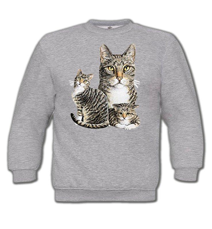 Sweatshirts EnfantsRaces de chatsChats tigré gris (M2)