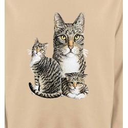 Sweatshirts Sweatshirts Enfants Chats tigré gris (M2)