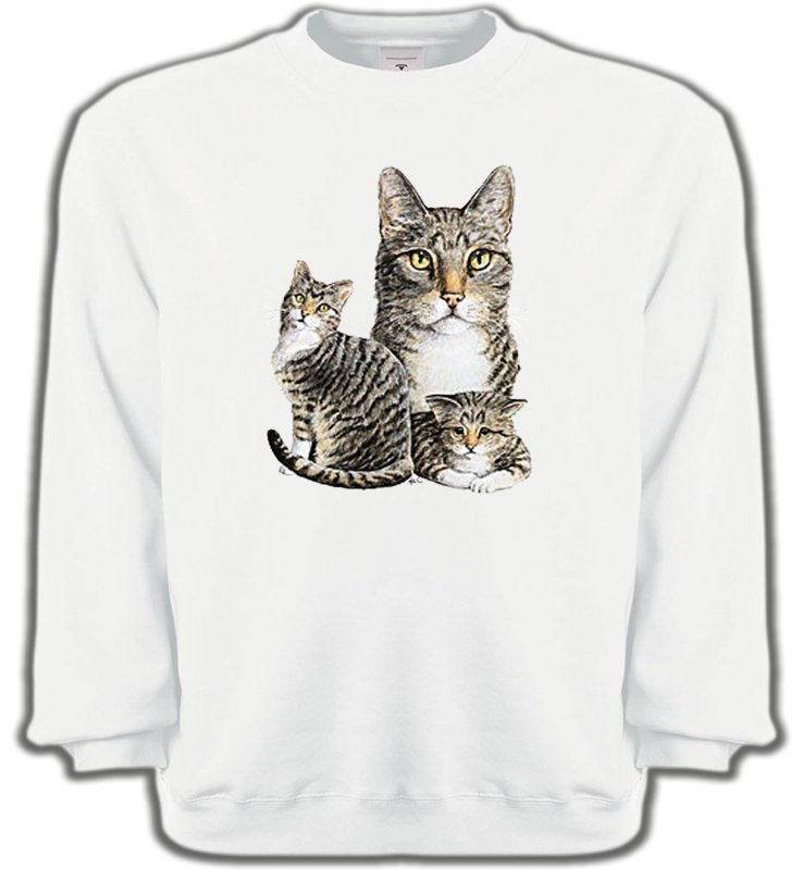 Sweatshirts UnisexeRaces de chatsChats tigré gris (M2)