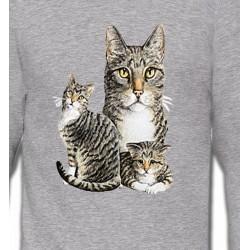 Sweatshirts Sweatshirts Unisexe Chats tigré gris (M2)