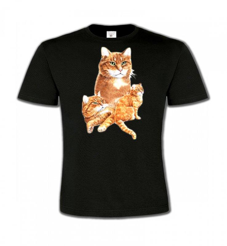T-Shirts Col Rond EnfantsRaces de chatsChat tigré roux (L2)