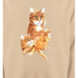 Sweatshirts Sweatshirts Unisexe Chat tigré roux (L2)