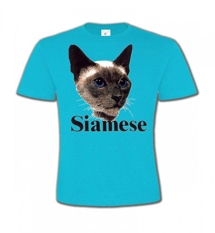 T-Shirts Col Rond EnfantsRaces de chatsChat Siamois (J2)