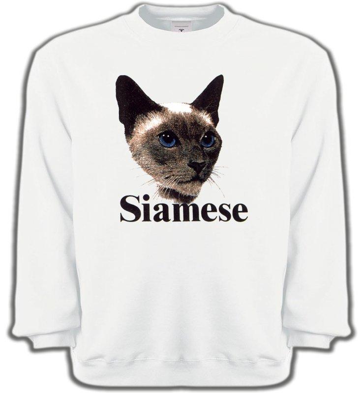 Sweatshirts UnisexeRaces de chatsChat Siamois (J2)