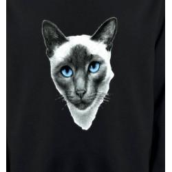 Sweatshirts Sweatshirts Unisexe Chat Siamois (F2)