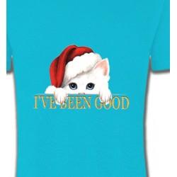 T-Shirts Races de chats Chaton blanc avec bonnet de Père Noël (O)
