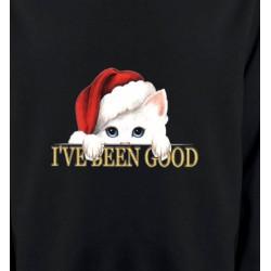 Sweatshirts Sweatshirts Unisexe Chaton blanc avec bonnet de Père Noël (O)