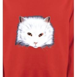 Sweatshirts Races de chats Chat Angora blanc