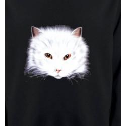 Sweatshirts Sweatshirts Unisexe Chat Angora blanc