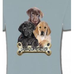 T-Shirts Races de chiens Bébé labrador noir chocolat et sable (P)