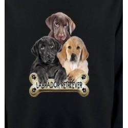 Sweatshirts Races de chiens Bébé labrador noir chocolat et sable (P)