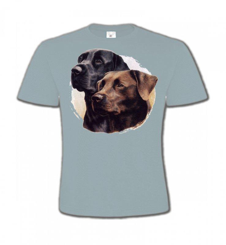 T-Shirts Col Rond EnfantsLabradorLabrador noir et chocolat (A)