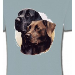 T-Shirts Races de chiens Labrador noir et chocolat (A)