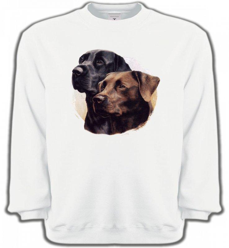 Sweatshirts UnisexeLabradorLabrador noir et chocolat (A)