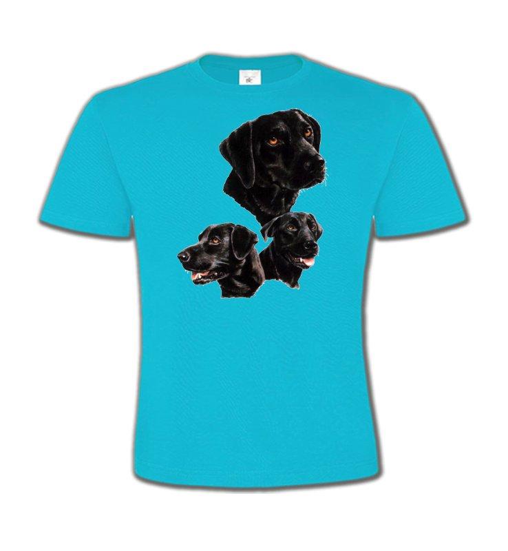 T-Shirts Col Rond EnfantsLabradorLabrador noir (B)