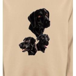 Sweatshirts Races de chiens Labrador noir (B)