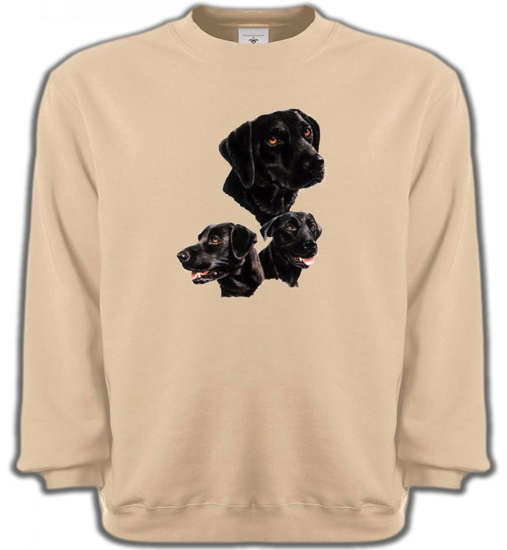 Sweatshirts UnisexeLabradorLabrador noir (B)