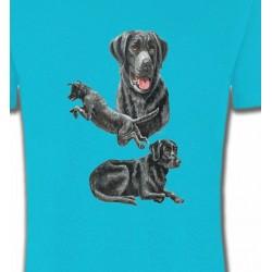 T-Shirts Races de chiens Labrador noir (C)