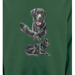 Sweatshirts Races de chiens Labrador noir (C)