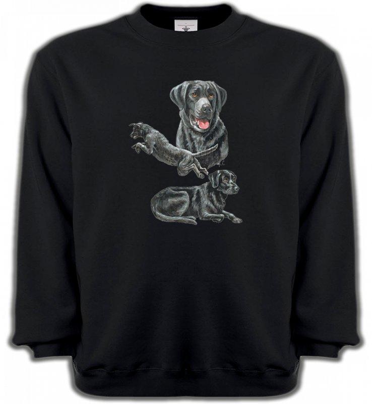 Sweatshirts UnisexeLabradorLabrador noir (C)