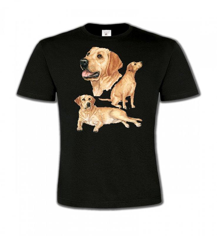 T-Shirts Col Rond EnfantsLabradorLabrador sable  (E)