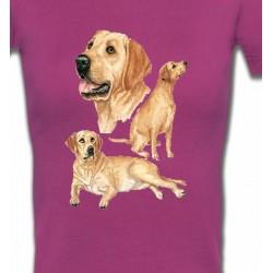 T-Shirts Races de chiens Labrador sable  (E)